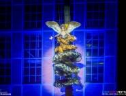 """09.10.2015 Light Move Festival w Lodzi ktorego organizatorem jest fundacja """" Lux Pro Monumentis """" W tym roku otwarcie wydarzenia odbylo sie w zrewitalizowanej elektrocieplowni EC-1 Wschod Fot. Piotr Kamionka/REPORTER"""